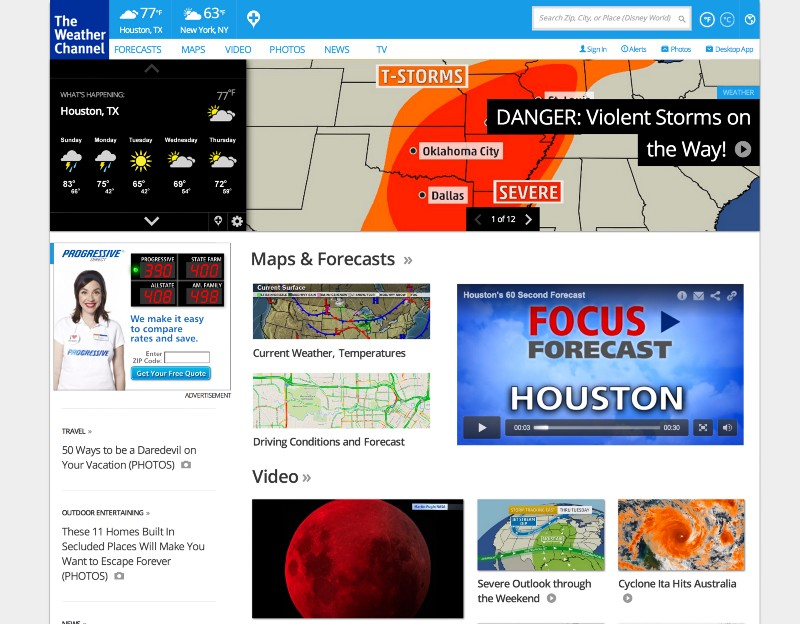 weather.com better ux