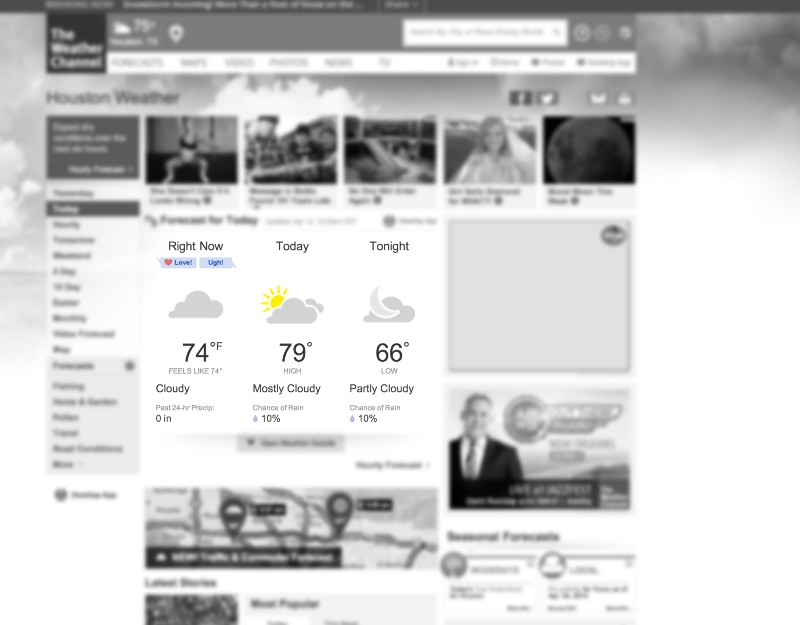 weather.com detail page