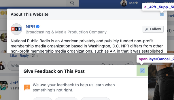 Facebook UX Issue