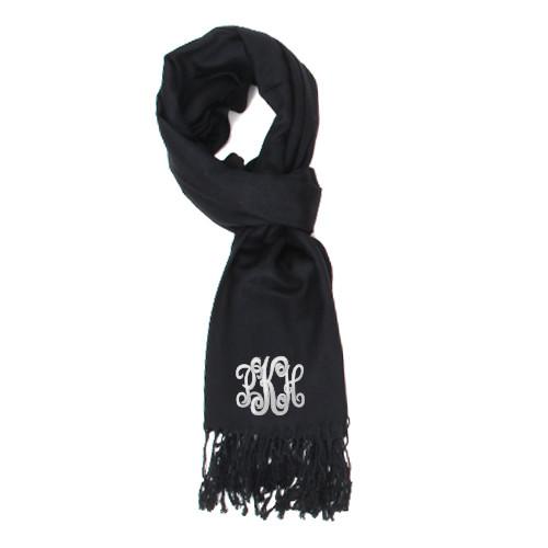 monogrammed pashmina scarf