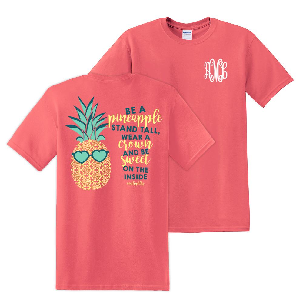 Monogrammed Pineapple T Shirt Marleylilly