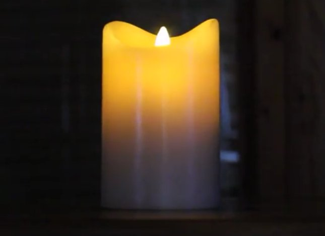 @gregwjameson's cover photo for 'Real Wax, Flameless Candle with Moving Wick - Cyberbase Trading Post'