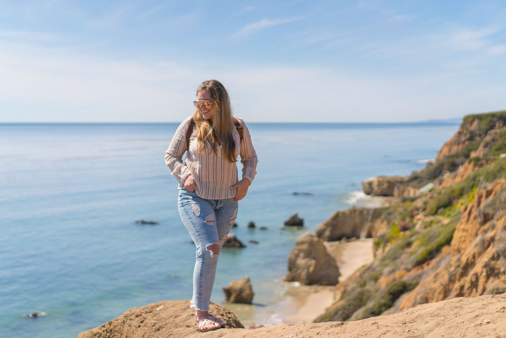 @getlostwithjackie's cover photo for 'Exploring El Matador Beach in Malibu with Blowfish Shoes'