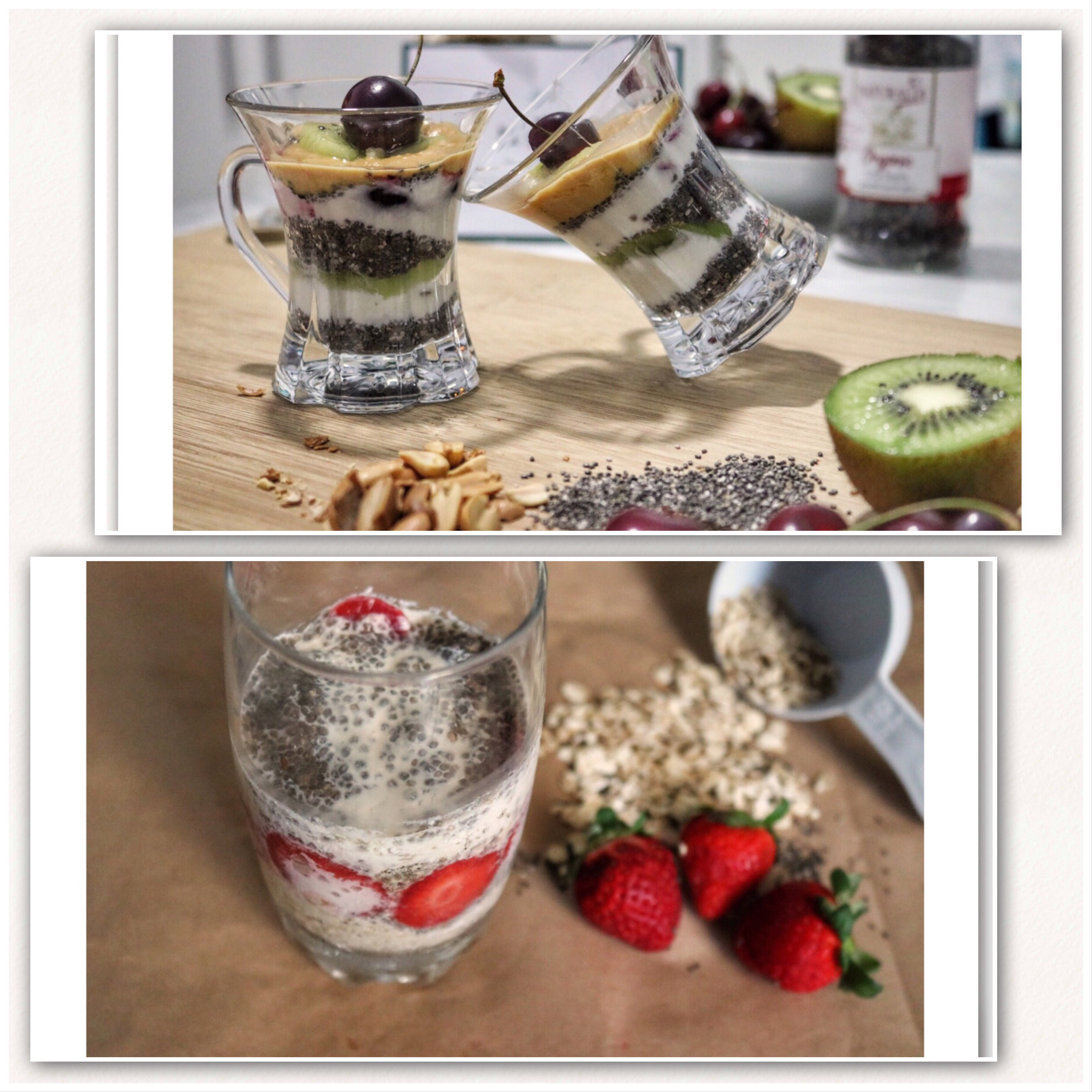 @ptitnfit's cover photo for 'Ramadan series- Souhour ideas in collaboration with Mintbasil-1: Overnight oatmeal and chia pudding, - PtitNFit'