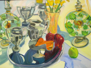 Still Life (Silver and Daffodils)