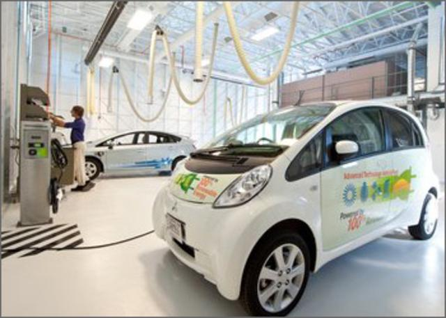 Bi-directional charging for vehicles can be used to not only power cars but the batteries can also used to power homes. (Photo: NREL).