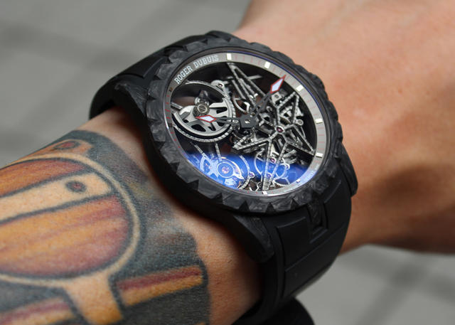 On the Wrist: Roger Dubuis Excalibur 42 Automatic Skeleton Carbon
