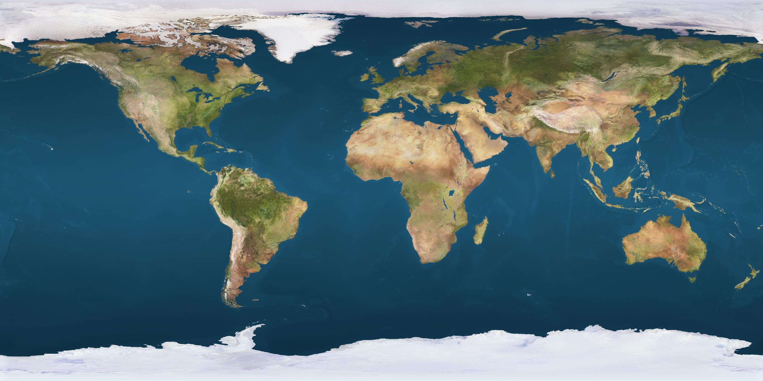 April Regional Roundup April Via Satellite - World map 2016 satellite