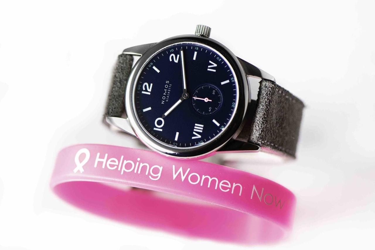 Nomos and Timeless Luxury Watches Battle Breast Cancer
