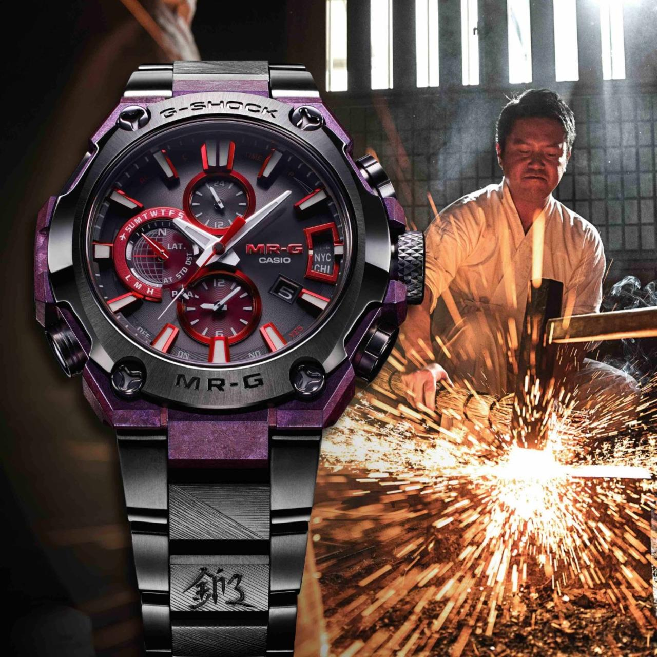G-SHOCK's Latest 'MR-G' is an Ode to Sword Making