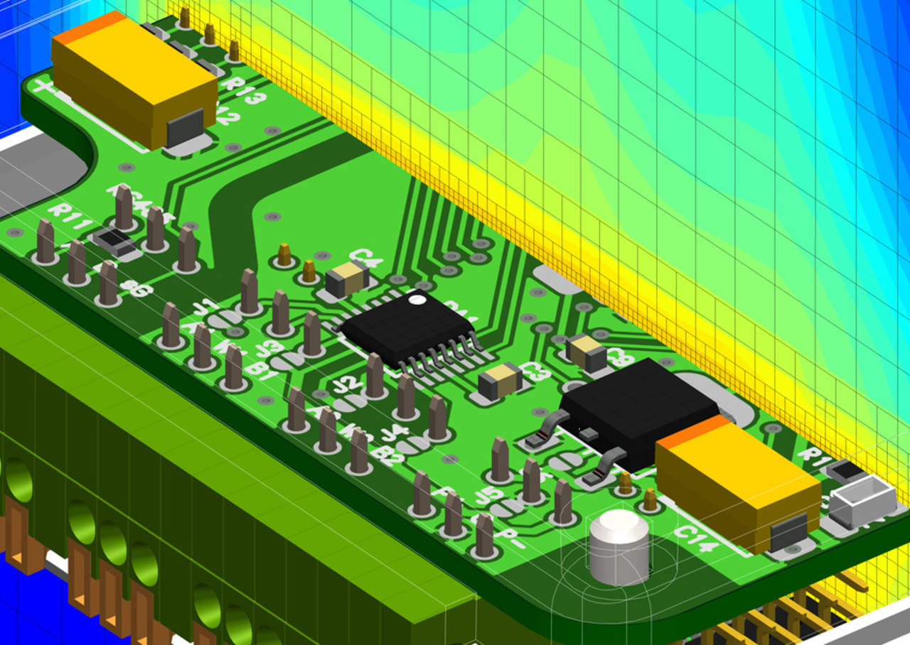 April May 2018 Beating The Heat For Emerging Electronics Rf Integrated Circuit Quality Suppliers Mentor Graphics Flotherm Is Used To Analyze An Air Cooled Xmc Product Designphoto Courtesy Of