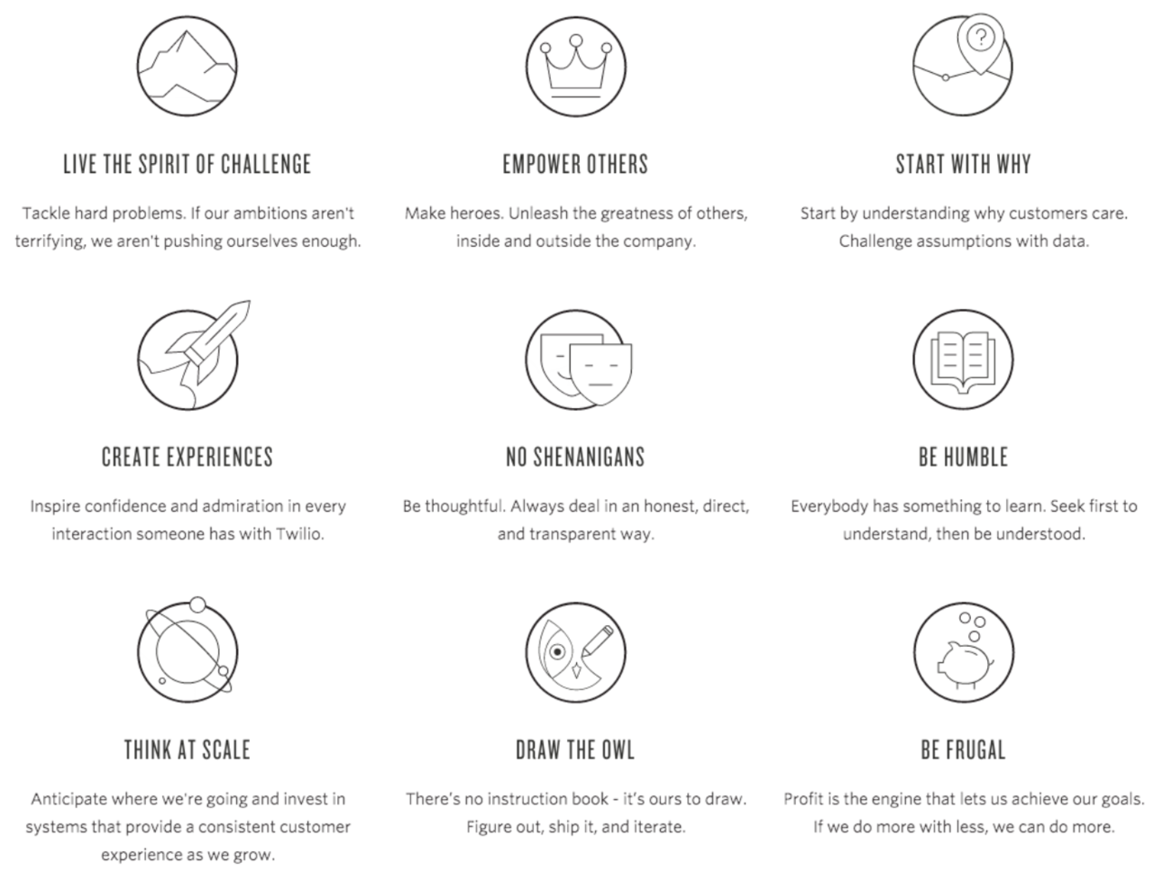 draw the owl and other company values you didn t know you should twilio s nine company values