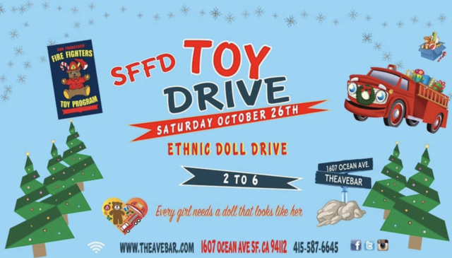 The Ave Bar's SFFD Toy Drive