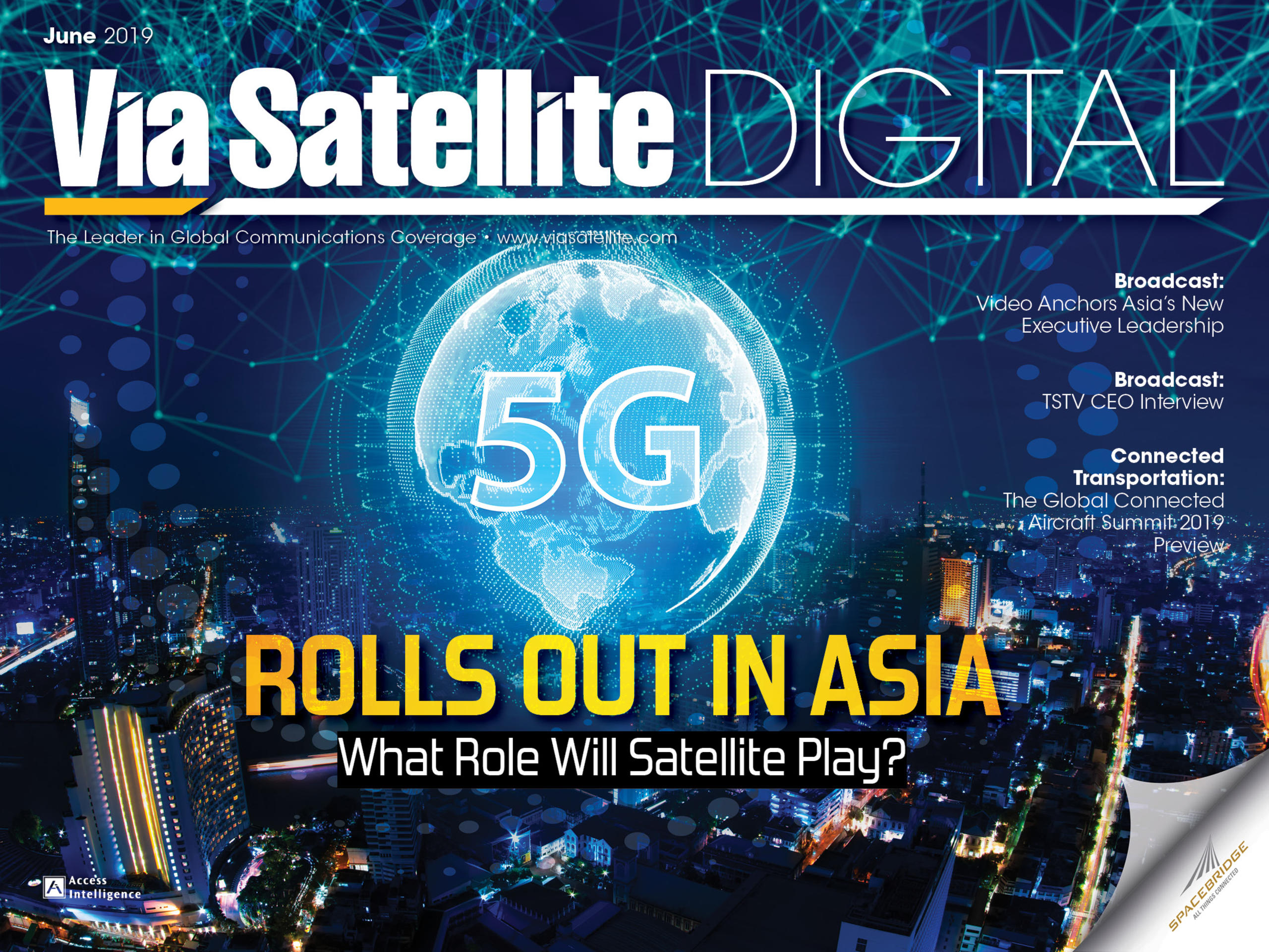 June 2019 - 5G Rolls Out in Asia: What Role Will Satellite Play