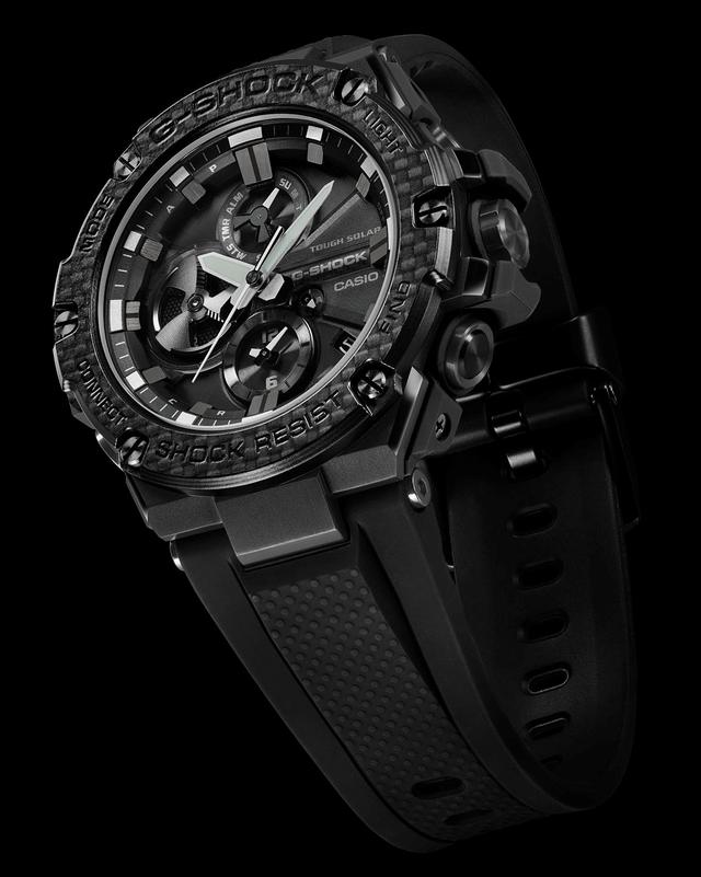 G Shock Bluetooth Connected G Steel With A Refined Carbon Bezel Iw