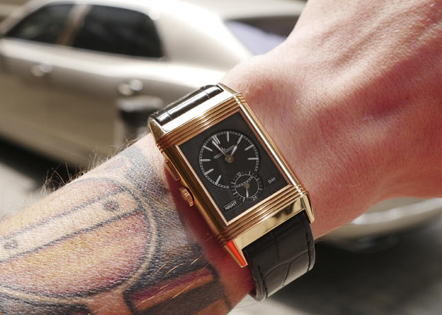 On the Wrist: Jaeger-LeCoultre Grande Reverso Ultra Thin Duoface Pink Gold