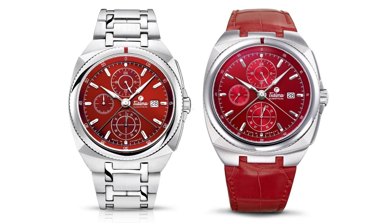 Tutima Saxon One Chronograph, now in Red