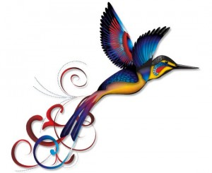vibrant-colored-hummingbird-tattoo