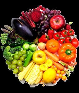 colorful fruit veggies