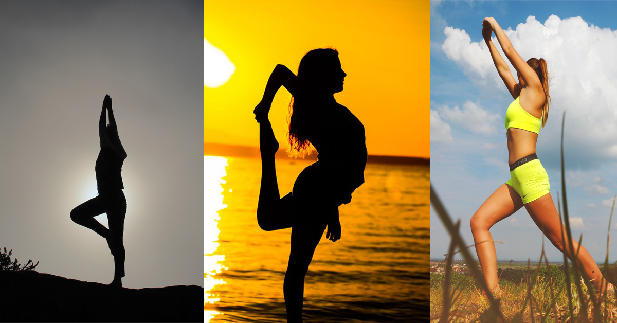 images of women stretching