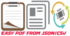 Create PDF files from json or csv data.