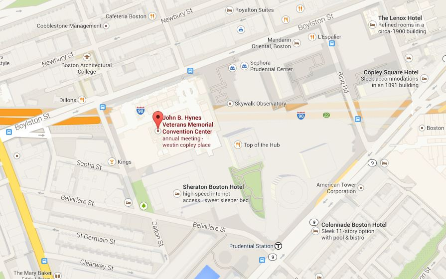Map of John B. Hynes Veterans Memorial Convention Center