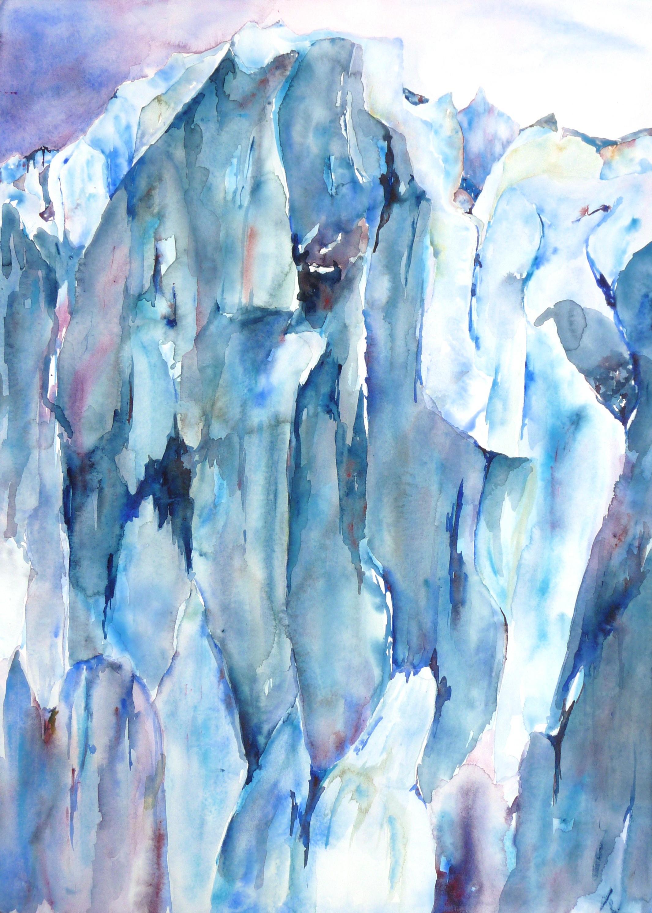 Alasken Glacier by Lisa Goren, part of the Jamaica Plain exhibition at the BCEC