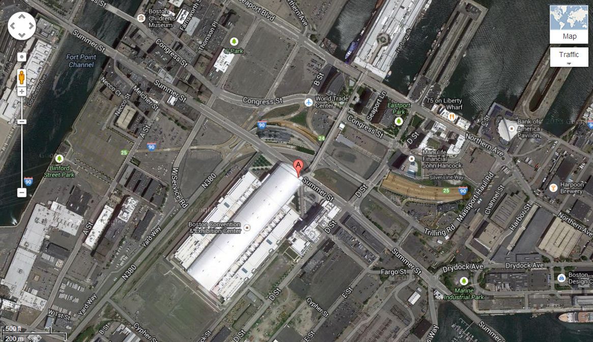 Map of Boston Convention & Exhibition Center