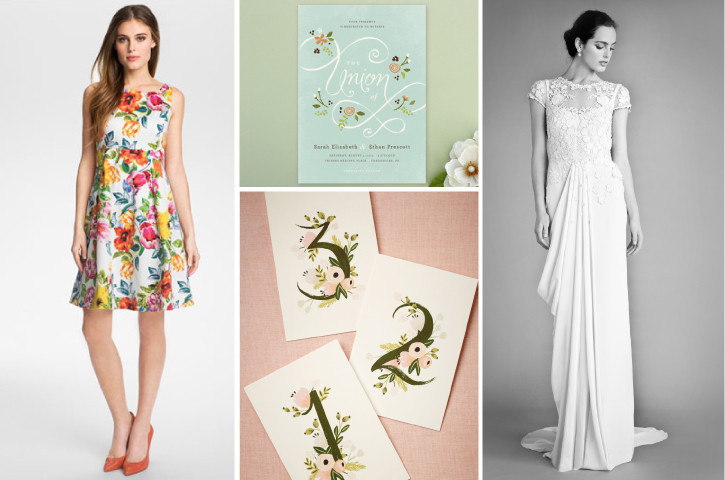 Garden-wedding-petal-pusher-bride-dress-bridesmaid-outdoors-matchbook-loverly