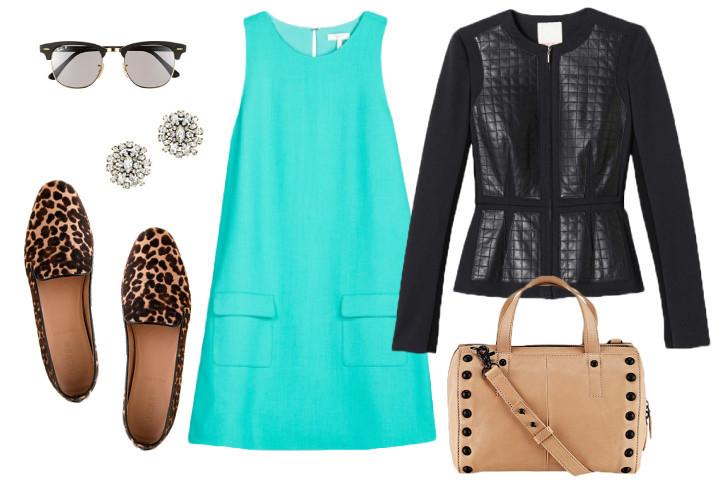Loafers-leatherjacket-shiftdress-leopard-fall-fashion-sunnies1