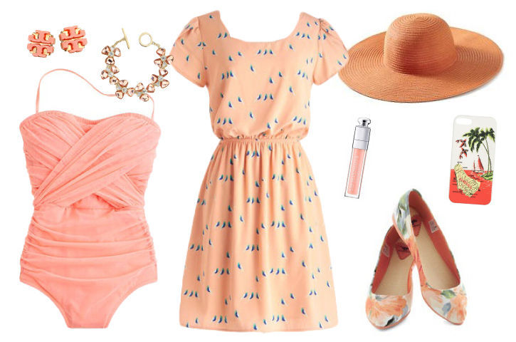Peach-apricot-coral-color-spring-fashion-summer-clothing