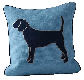 Needlepoint-dog-pillow