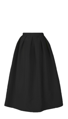 Silk-faille-skirt