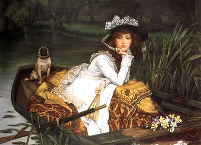 Young-lady-in-a-boat