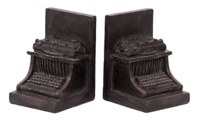 Typewriter-bookends