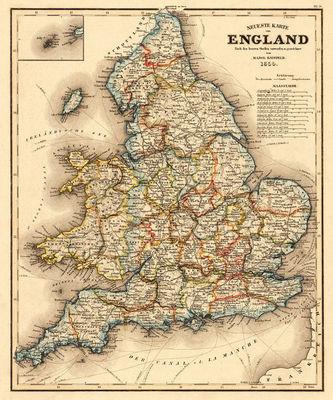 Map Of England Vintage.Vintage England Map Matchbook Magazine
