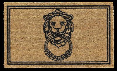 Lion-doorknocker-coir-mat-ballard-designs