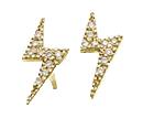 Bolt-pave-earrings
