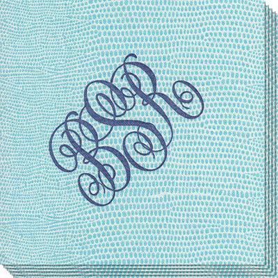Aqua-lizard-caspari-napkins-the-stationery-studio