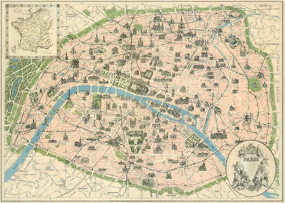Vintage-paris-map