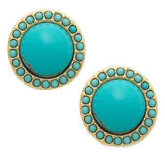 Turquoise-button-earrings-macys