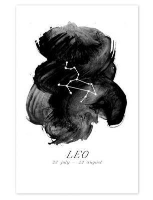 Leo-zodiac-print-etsy