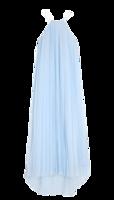 Pleated-silk-chiffon-dress