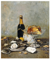 Oysters-cake-and-a-bottle-of-champange