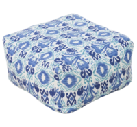 Ikat_blue_outdoor_pouf