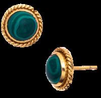 Lion-stone-stud-earrings