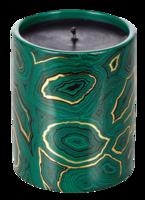 Malachite-candle
