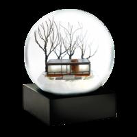 Glass-house-snow-globe