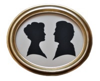Mary-and-matthew-crawley-silhouettes-etsy