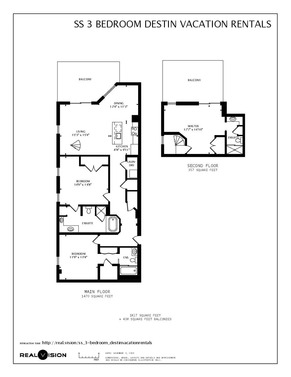 1827 Sq Ft 438 3 Bedrooms